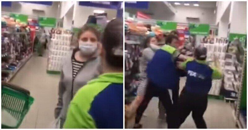 Зашедшая в магазин с собакой девушка подралась с сотрудницей