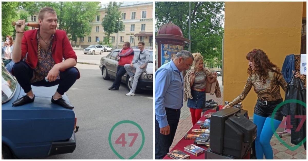"""В Волхове голосующих встречают братки на """"бэхах"""" под хиты лихих девяностых"""