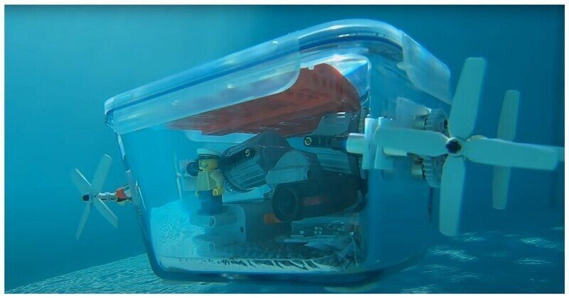 Самодельная радиоуправляемая подводная лодка из Lego