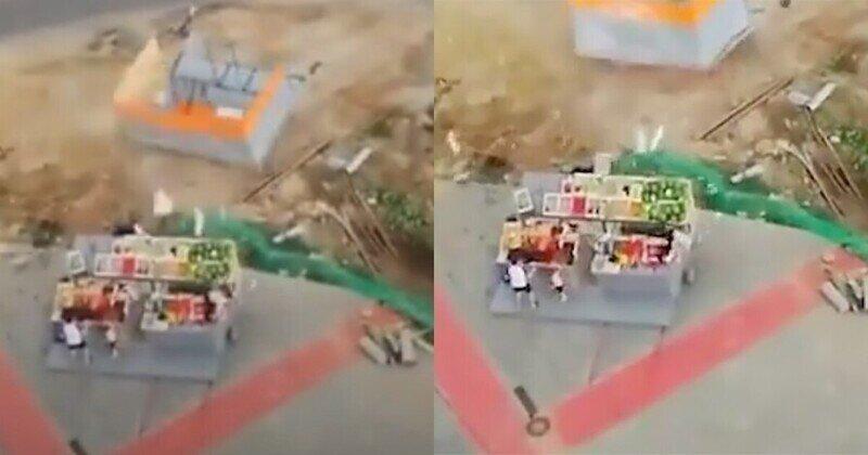 Ураган в Подмосковье унес торговую палатку вместе с продавщицей