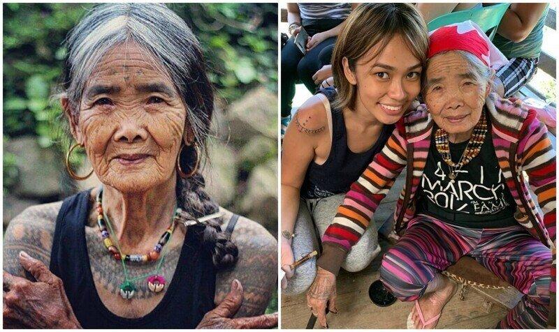 Ванг Од - 103-летняя легендарная татуировщица с Филиппин