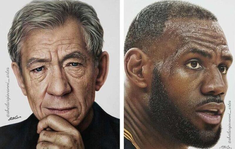 Карандашные портреты известных личностей, которые тяжело отличить от фотографий