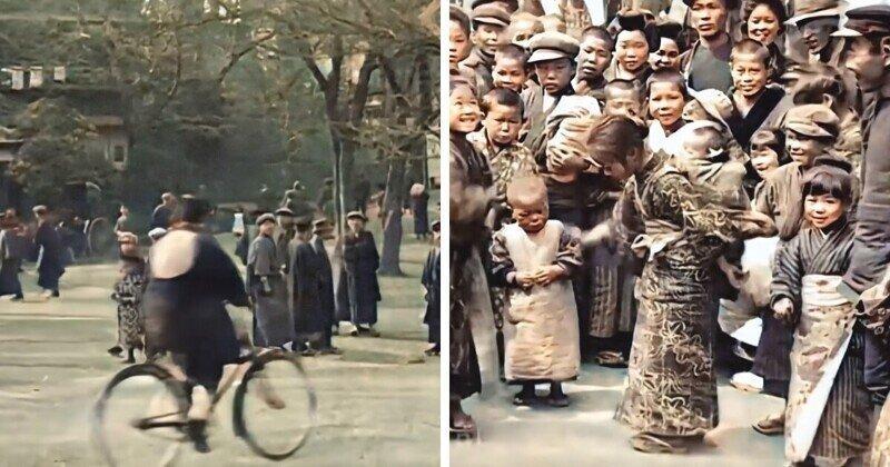 Архивные съемки Токио 1913-1915 годов, улучшенные с помощью нейросети