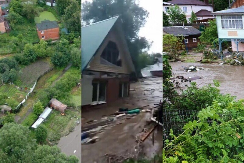 """""""Илюхин дом поехал!"""": в Подмосковье прорвало дамбу и смыло постройки"""