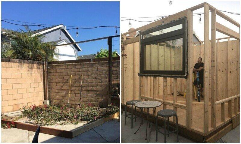 Рукастый папа построил домашнюю кофейню на заднем дворе