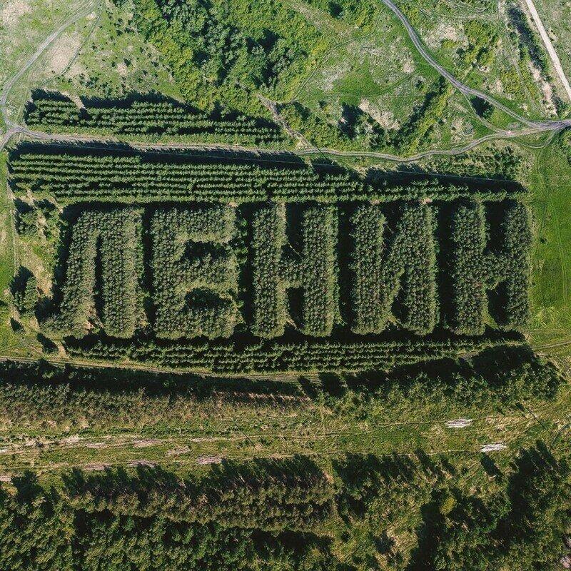 Один из самых массивных геоглифов, созданных в Советском Союзе