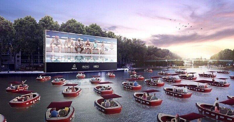 В Париже открывается плавучий кинотеатр