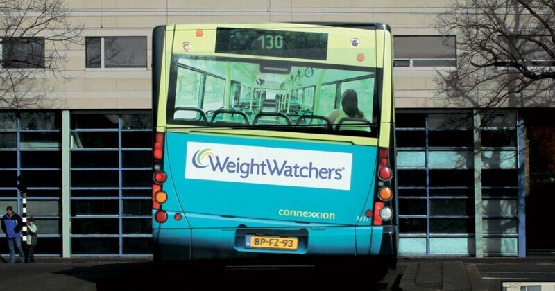 Реклама на автобусах, от которой невозможно оторвать взгляд!