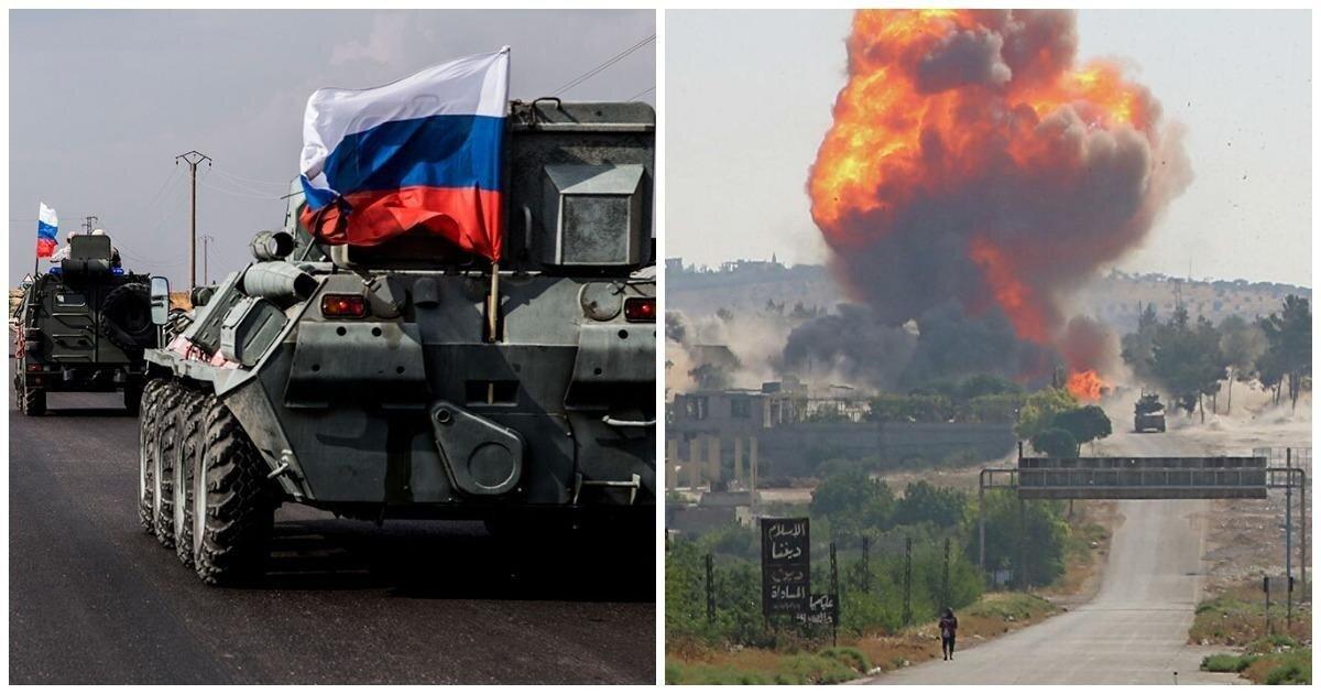 В Сети опубликовали видео подрыва российской колонны в Сирии