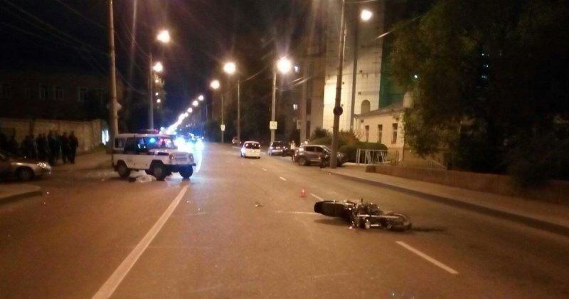 Авария дня. В Красноярске в ДТП погиб мотоциклист