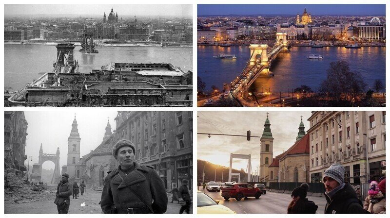 Фотосравнения: Будапешт послевоенный и современный