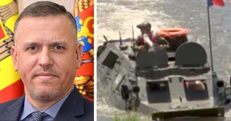 Рыбой по лицу получил на учениях министр обороны Молдавии