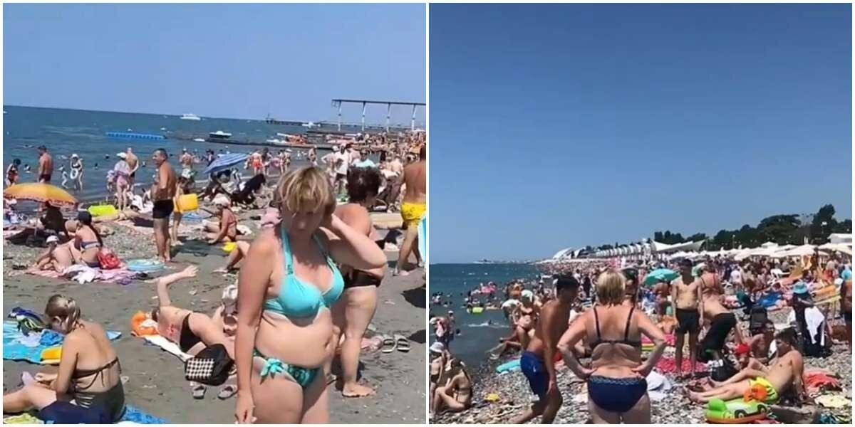 «Оккупировали каждый сантиметр»: пляжи в Сочи просто кишат туристами