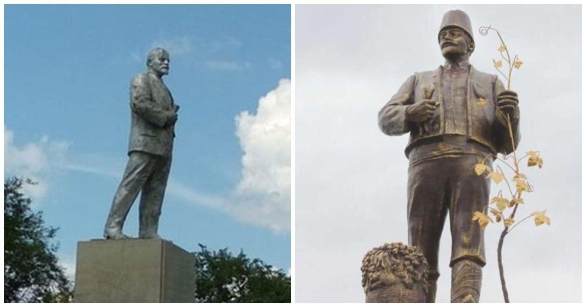 На Украине памятник Ленину превратили в монумент болгарскому колонисту