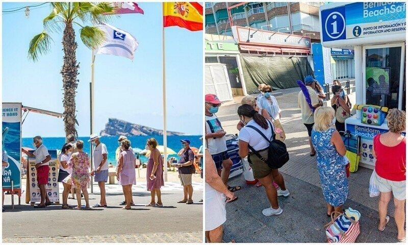 Тем временем в Испании: два часа в очереди ради места на пляже