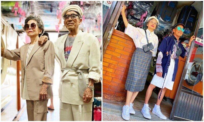 Пожилые супруги из Тайваня прославились благодаря отменному чувству стиля