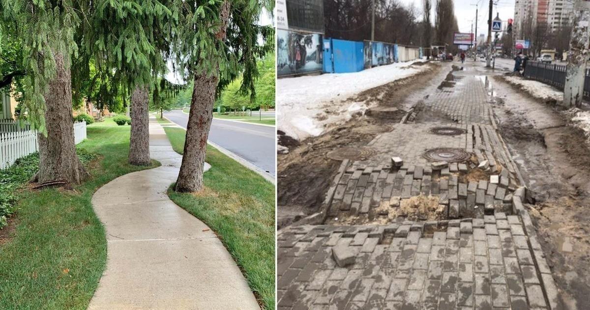 Тротуарные дорожки: от годноты до полной дичи