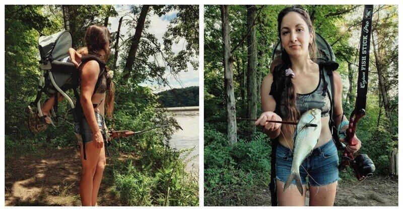Домохозяйка-охотница. Женщина из США берёт на охоту свою двухлетнюю дочку