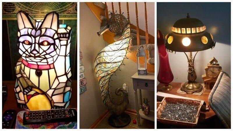 30 удивительных ламп, найденных на барахолках