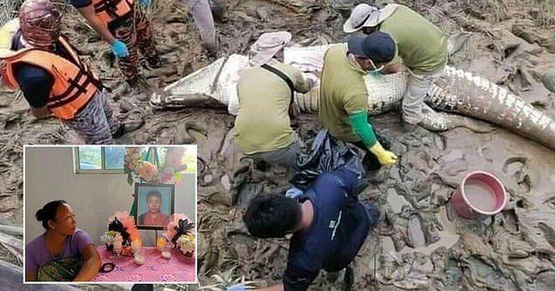 В Малайзии поймали крокодила-людоеда, который убил подростка