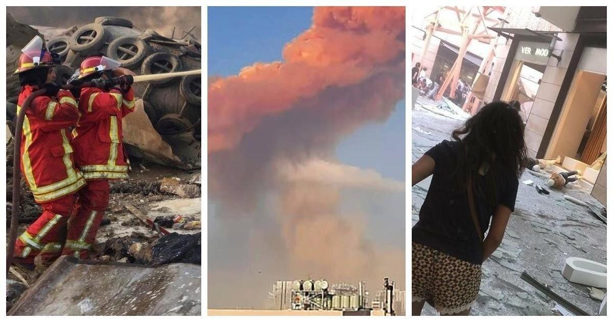 Взрыв огромной мощности прогремел в порту Бейрута