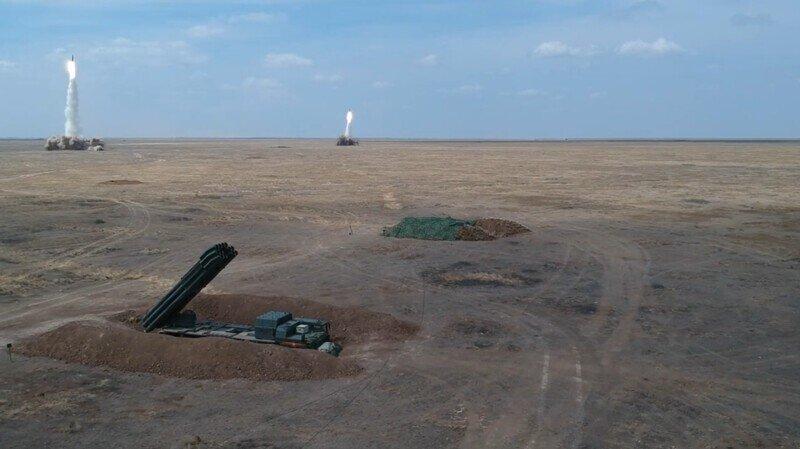 Эпичные кадры массированного ракетного удара комплексов «Искандер»
