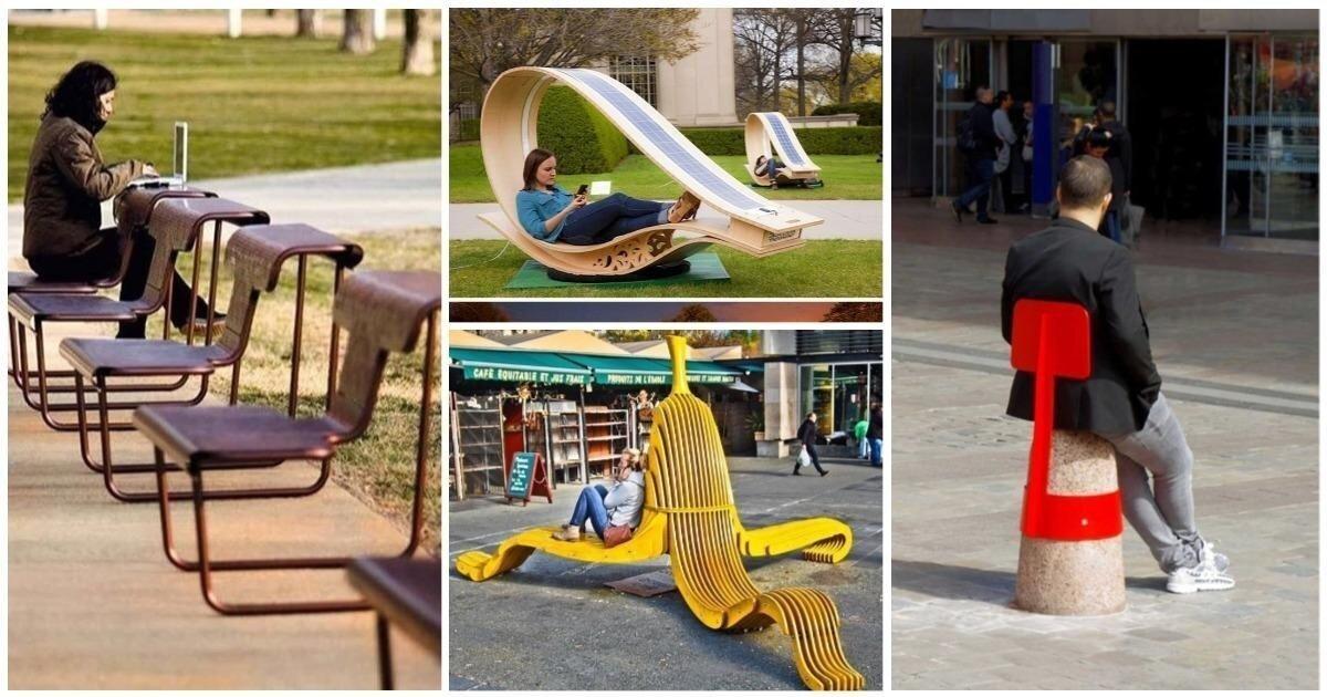 Все для людей: 20 мегакрутых оригинальных скамеек, которые должны украсить каждый город