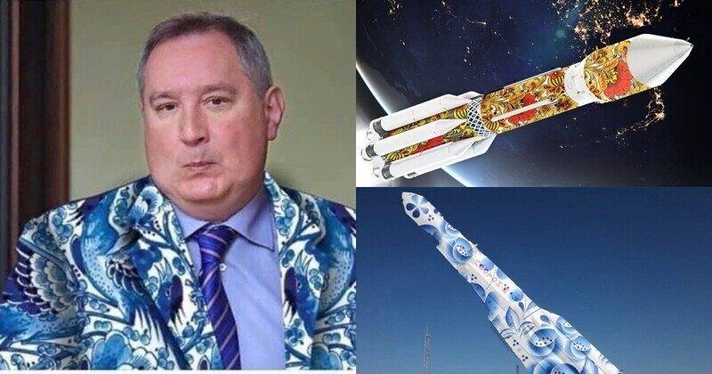Рогозин предложил расписать космические ракеты под хохлому и гжель