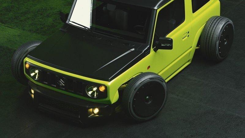 Днищем по асфальту! Suzuki Jimny с экстремальным занижением
