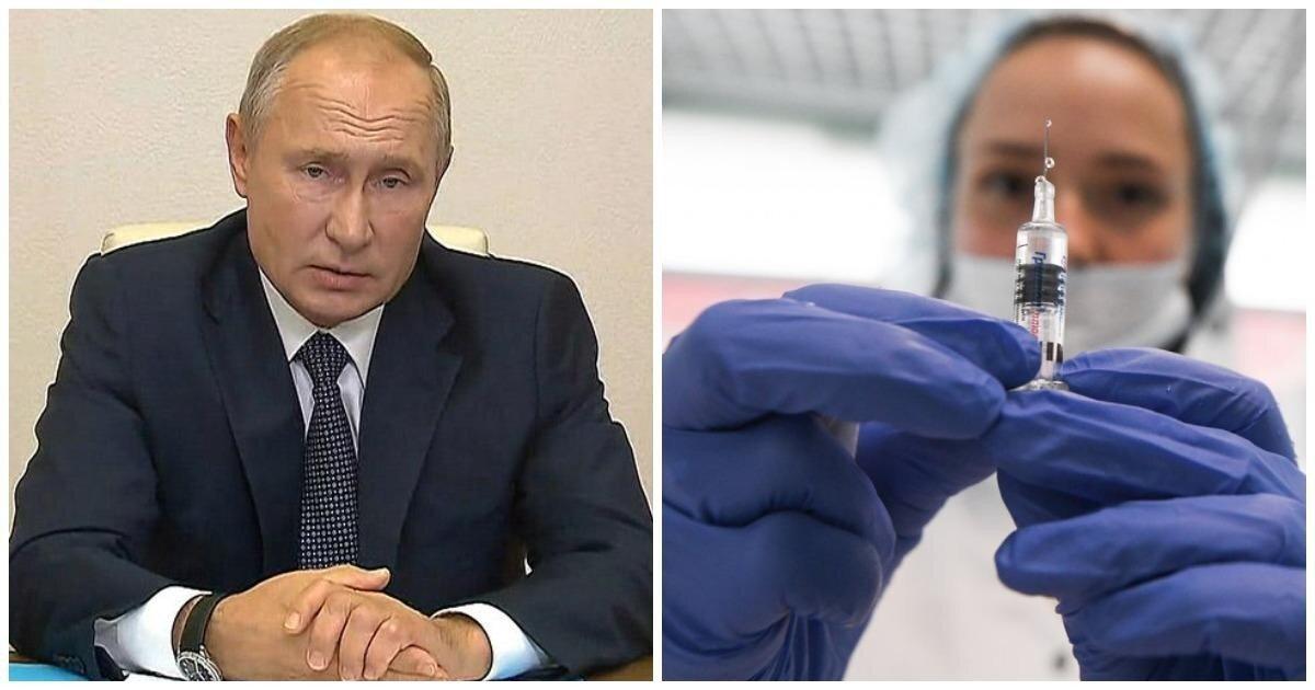 Путин заявил, что в России зарегистрирована первая в мире вакцина от коронавируса