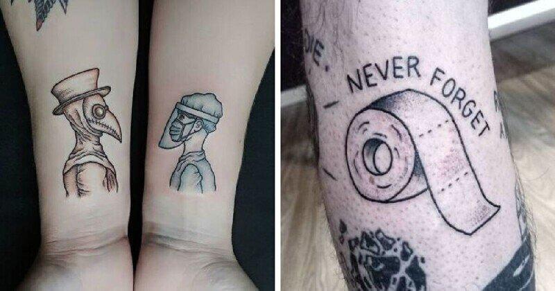 35 лучших татуировок на тему коронавируса