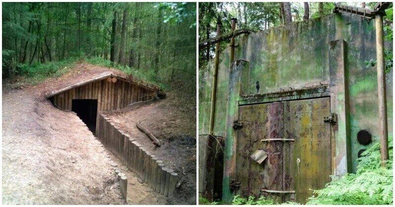 Заброшенные дома и бункеры в лесу