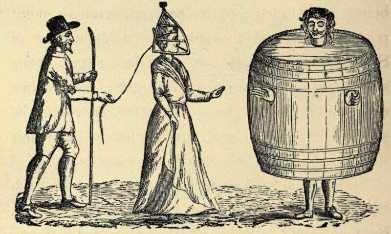 Маски стыда и их применение в Средневековье