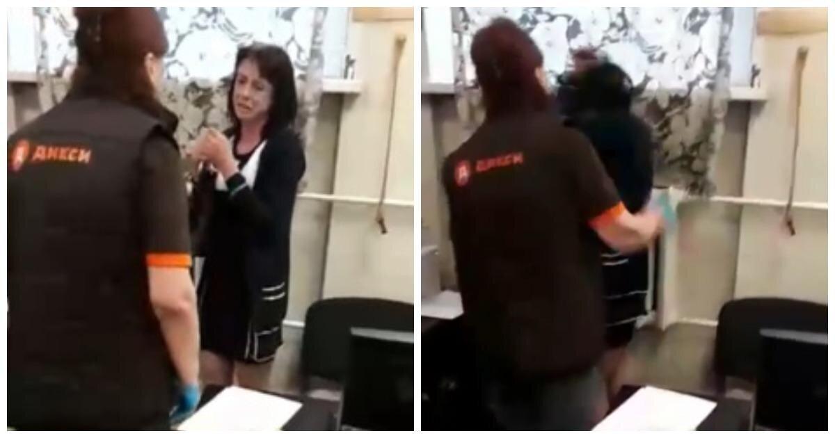 """Кассирша магазина """"Дикси"""" избила женщину за кражу шампуня"""
