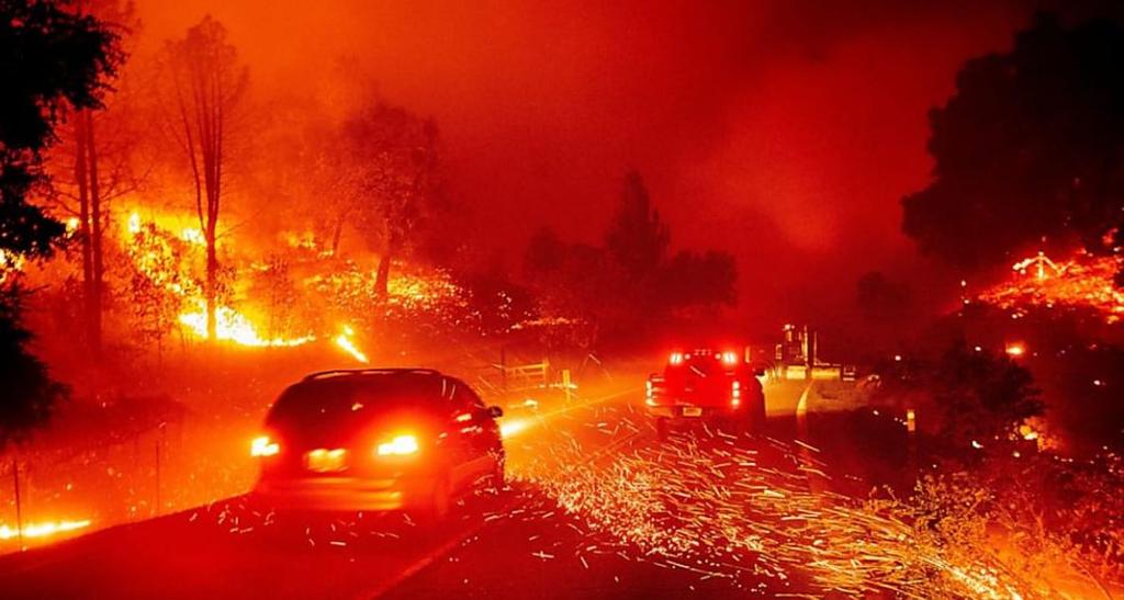 """Русская мать велела дочери """"просто молиться"""", когда машина попала в зону лесного пожара в Калифорнии"""