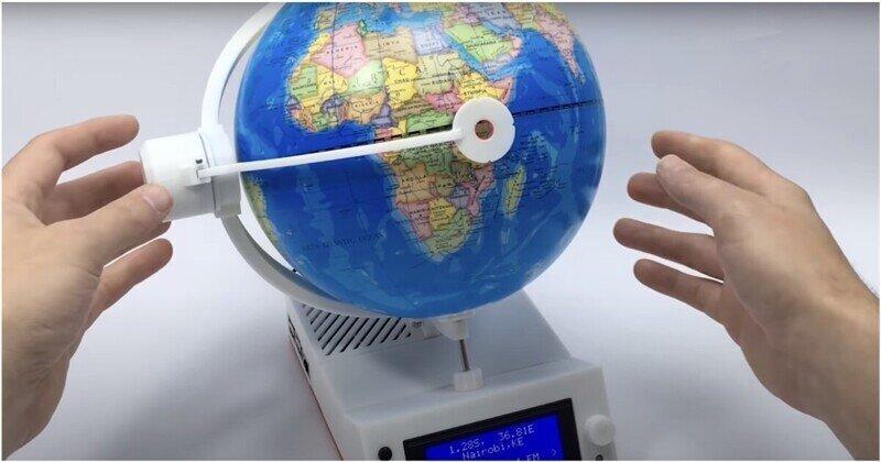 Необычный глобус, на котором можно слушать радио разных стран