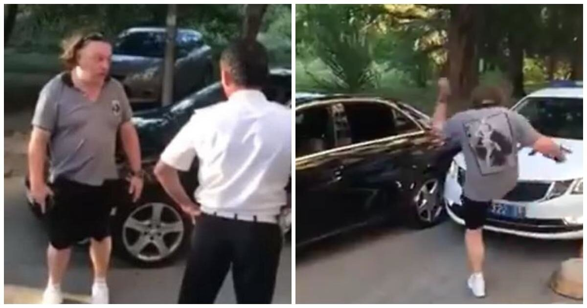 """""""Посмотри на номера, дебил"""": в Сочи водитель Mercedes оскорбил полицейских и поплатился"""