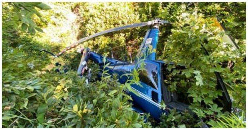 В горах в Сочи разбился частный вертолет