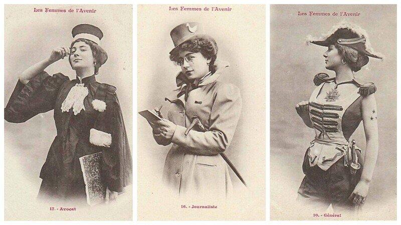 """""""Женщины будущего"""": коллекционные карточки Альбера Бержере, 1902 г"""