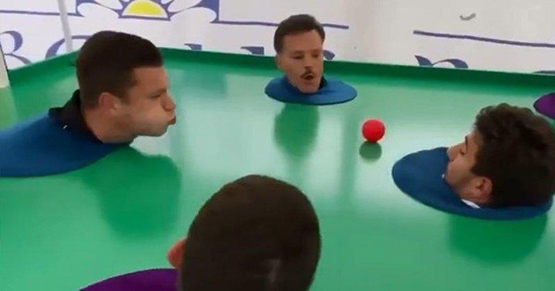 Игра в футбол при помощи дыхания