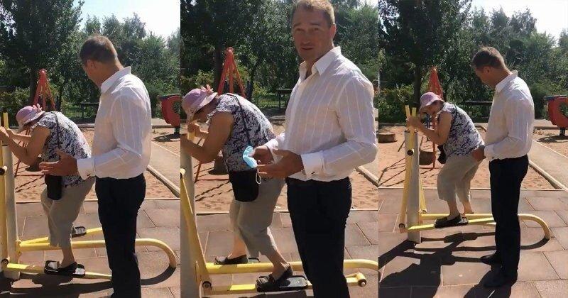 Активная бабуля на тренажере: депутат из Самары отчитался о проделанной работе