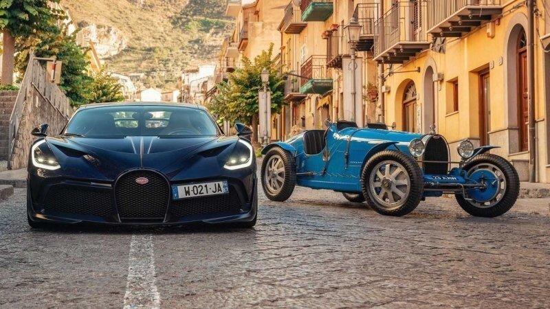 Историческое воссоединение: Bugatti Divo встретил старшего брата Type 35