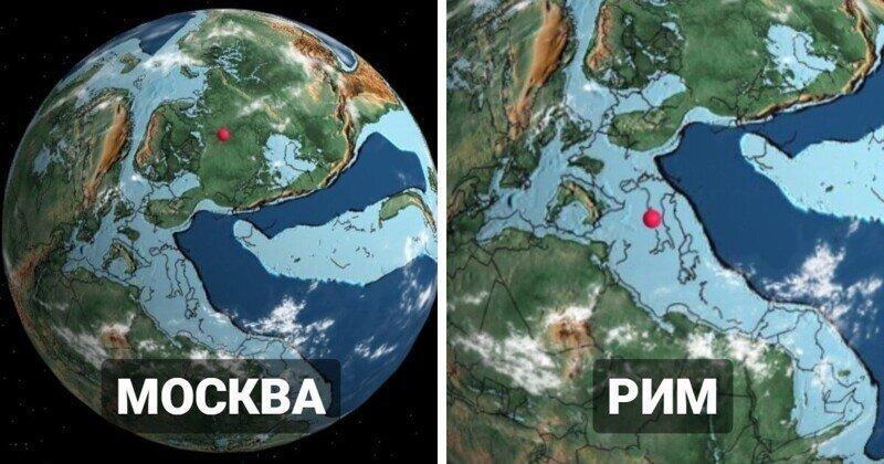Модель Земли, на которой можно узнать, где раньше находился ваш город