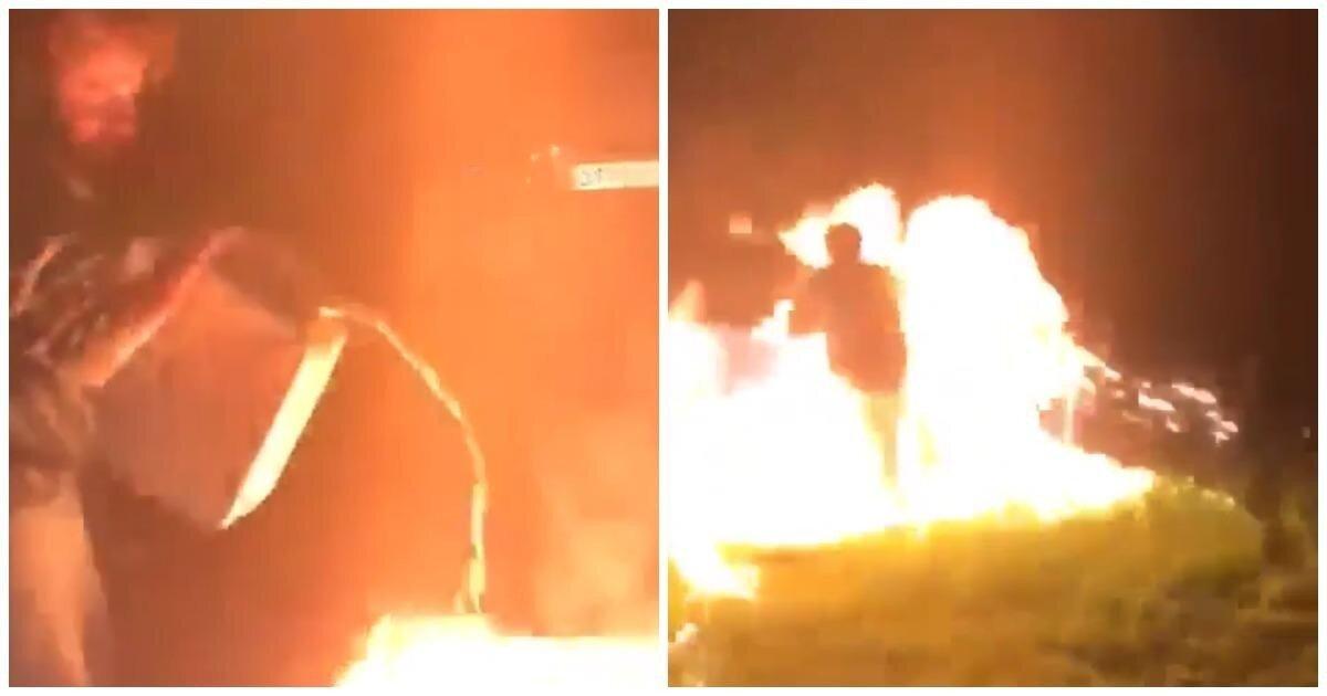 Житель Подмосковья решил пожарить мясо, но вместо этого уничтожил бассейн и устроил потоп