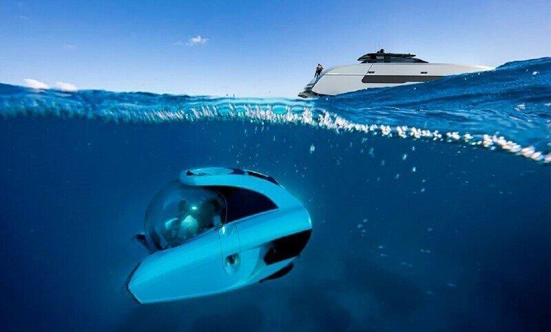 Яхта с подводной лодкой - для богатых и любопытных