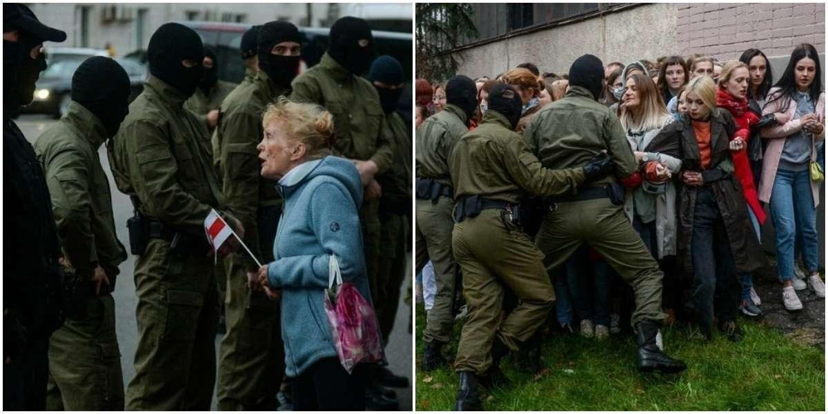В Белоруссии неизвестные задерживали женщин за демонстрацию солидарности Колесниковой