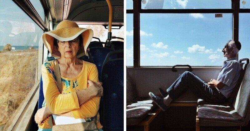 Женщина скрытно фотографирует своих попутчиков на смартфон