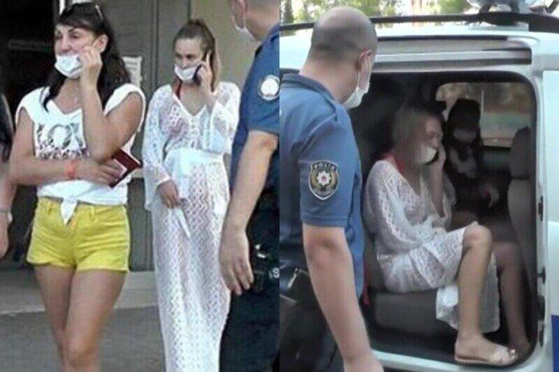 Пьяных россиянок в Турции отвезли в полицию после броска тапками в медсестру