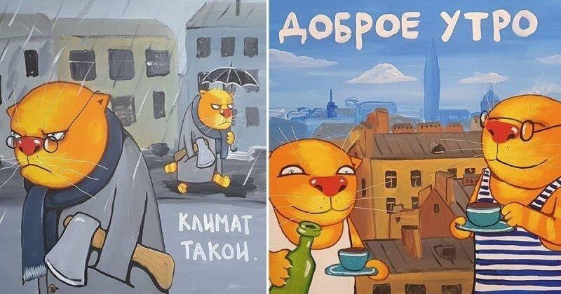 Культурный кот Петербурга: Вася Ложкин собрался в город на Неве