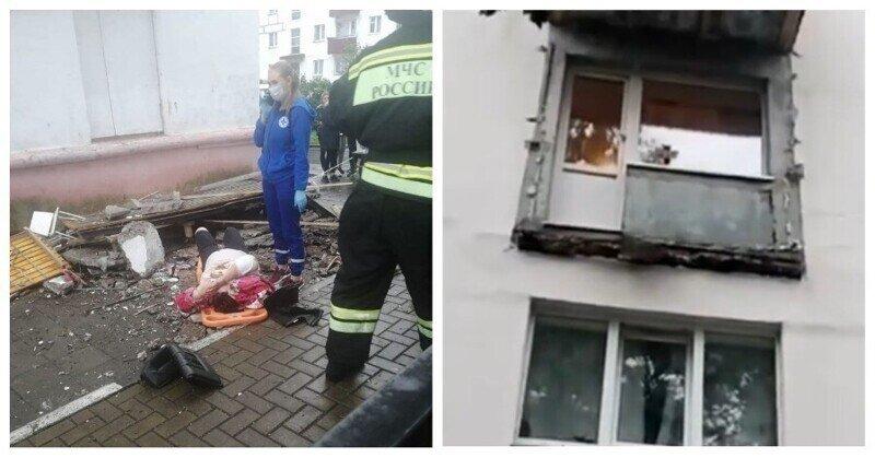 На Сахалине обрушился балкон с двумя женщинами